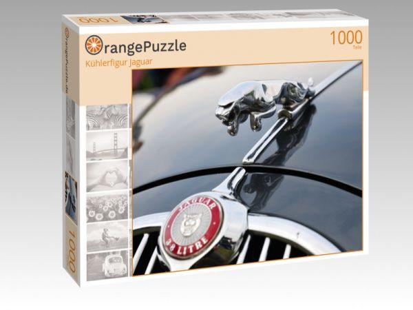 """Puzzle Motiv """"Kühlerfigur Jaguar"""" - Puzzle-Schachtel zu 1000 Teile Puzzle"""