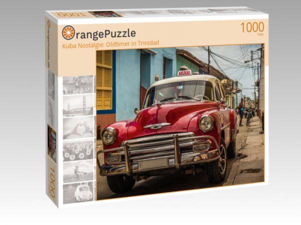 "Puzzle Motiv ""Kuba Nostalgie: Oldtimer in Trinidad"" - Puzzle-Schachtel zu 1000 Teile Puzzle"
