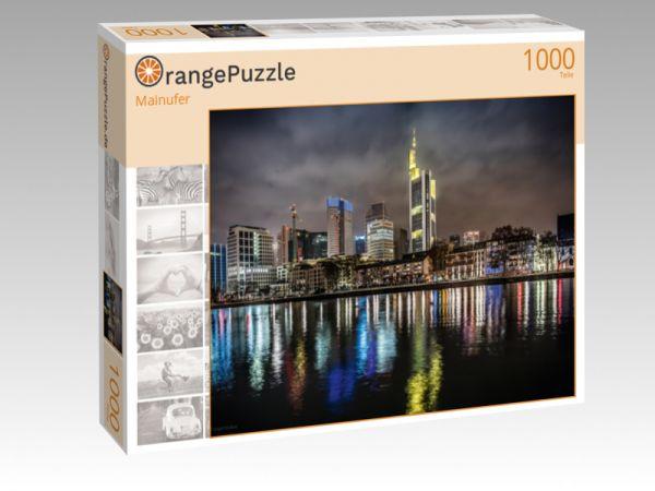 """Puzzle Motiv """"Mainufer"""" - Puzzle-Schachtel zu 1000 Teile Puzzle"""