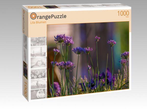 """Puzzle Motiv """"Lila Blumen"""" - Puzzle-Schachtel zu 1000 Teile Puzzle"""