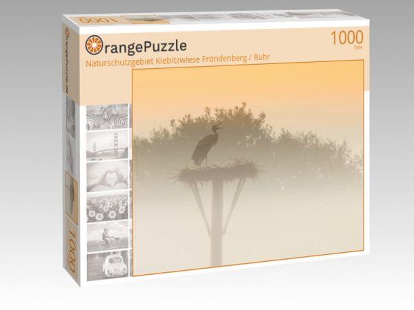 """Puzzle Motiv """"Naturschutzgebiet Kiebitzwiese Fröndenberg / Ruhr"""" - Puzzle-Schachtel zu 1000 Teile Puzzle"""