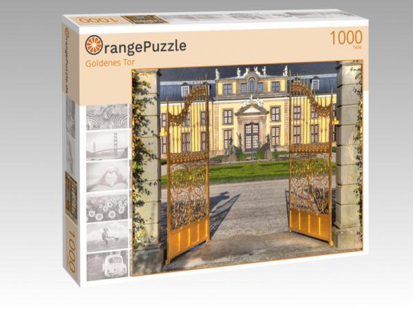 """Puzzle Motiv """"Goldenes Tor"""" - Puzzle-Schachtel zu 1000 Teile Puzzle"""