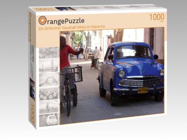 """Puzzle Motiv """"Ein britischer Vauxhall Velox in Havanna"""" - Puzzle-Schachtel zu 1000 Teile Puzzle"""