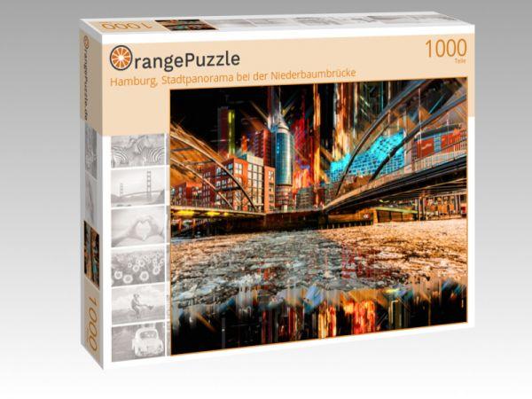 """Puzzle Motiv """"Hamburg, Stadtpanorama bei der Niederbaumbrücke"""" - Puzzle-Schachtel zu 1000 Teile Puzzle"""