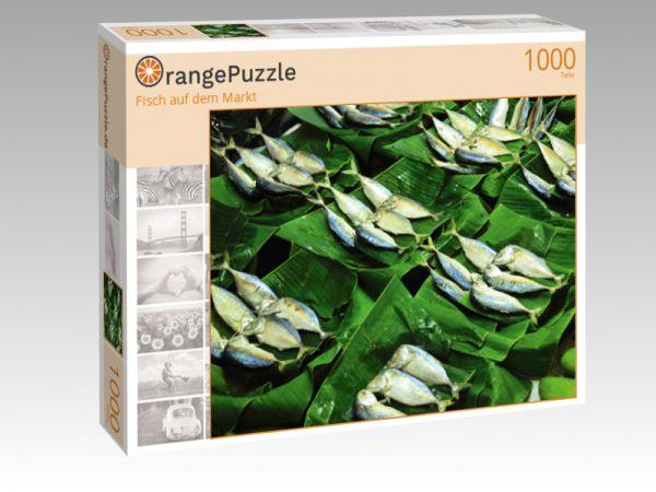 """Puzzle Motiv """"Fisch auf dem Markt"""" - Puzzle-Schachtel zu 1000 Teile Puzzle"""