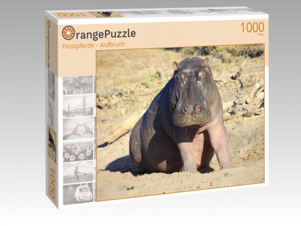 "Puzzle Motiv ""Flusspferde – Aufbruch"" - Puzzle-Schachtel zu 1000 Teile Puzzle"