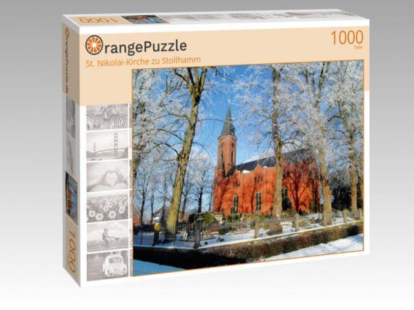 """Puzzle Motiv """"St. Nikolai-Kirche zu Stollhamm"""" - Puzzle-Schachtel zu 1000 Teile Puzzle"""