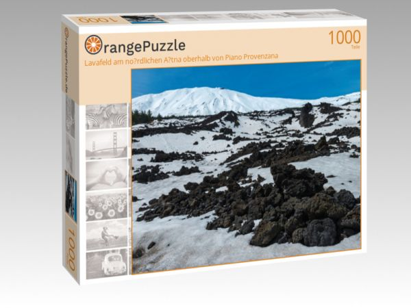 "Puzzle Motiv ""Lavafeld am no?rdlichen A?tna oberhalb von Piano Provenzana"" - Puzzle-Schachtel zu 1000 Teile Puzzle"