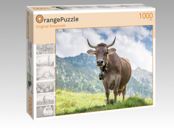 """Puzzle Motiv """"Original Braunvieh"""" - Puzzle-Schachtel zu 1000 Teile Puzzle"""