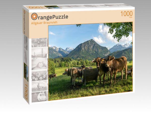 """Puzzle Motiv """"Allgäuer Braunvieh"""" - Puzzle-Schachtel zu 1000 Teile Puzzle"""