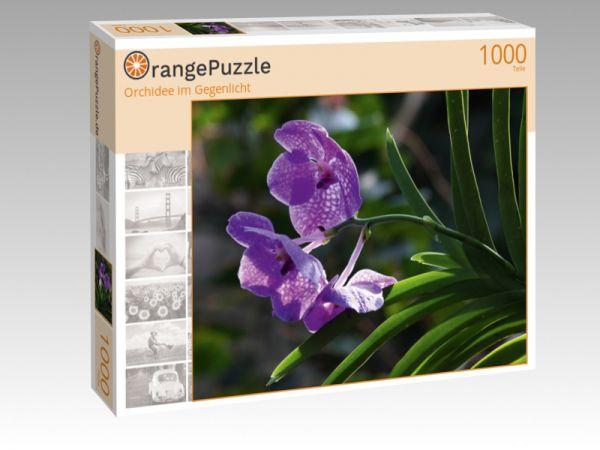 """Puzzle Motiv """"Orchidee im Gegenlicht"""" - Puzzle-Schachtel zu 1000 Teile Puzzle"""