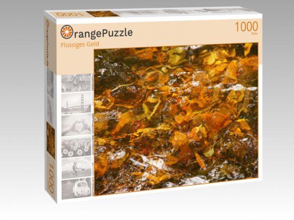 """Puzzle Motiv """"Flüssiges Gold"""" - Puzzle-Schachtel zu 1000 Teile Puzzle"""