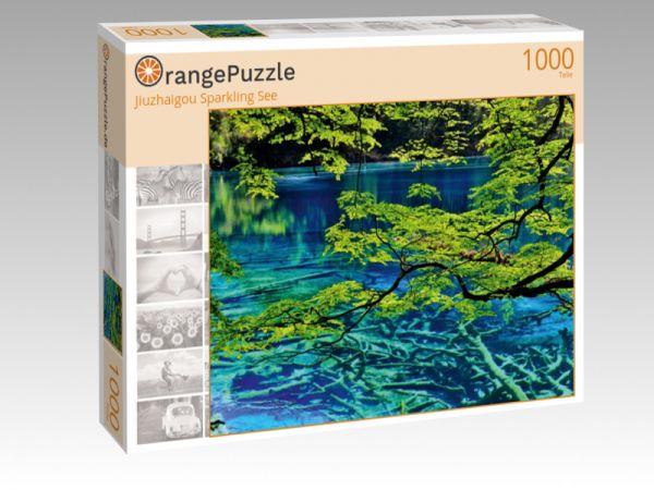 """Puzzle Motiv """"Jiuzhaigou Sparkling See"""" - Puzzle-Schachtel zu 1000 Teile Puzzle"""
