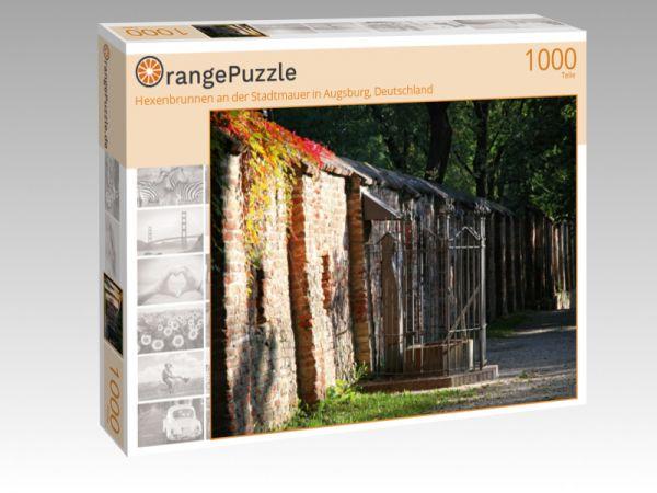 """Puzzle Motiv """"Hexenbrunnen an der Stadtmauer in Augsburg, Deutschland"""" - Puzzle-Schachtel zu 1000 Teile Puzzle"""