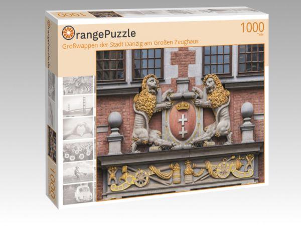 """Puzzle Motiv """"Großwappen der Stadt Danzig am Großen Zeughaus"""" - Puzzle-Schachtel zu 1000 Teile Puzzle"""