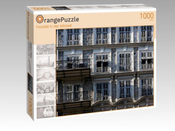 """Puzzle Motiv """"Fassade in der Altstadt"""" - Puzzle-Schachtel zu 1000 Teile Puzzle"""