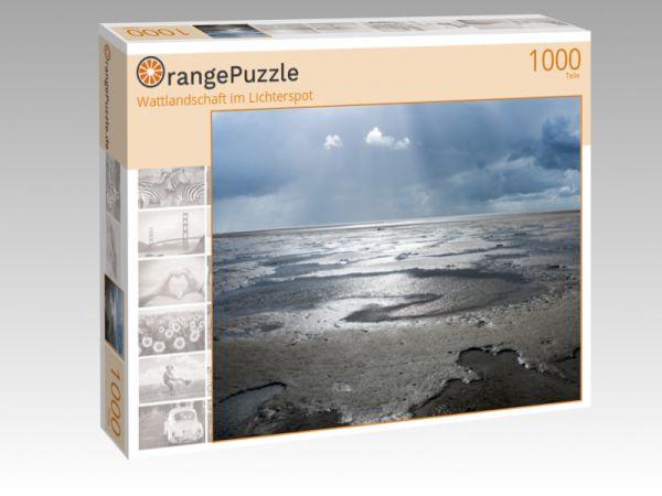 """Puzzle Motiv """"Wattlandschaft im Lichterspot"""" - Puzzle-Schachtel zu 1000 Teile Puzzle"""
