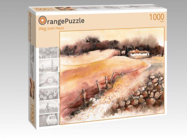 """Puzzle Motiv """"Weg zum Haus"""" - Puzzle-Schachtel zu 1000 Teile Puzzle"""