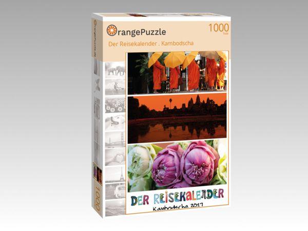 """Puzzle Motiv """"Der Reisekalender . Kambodscha"""" - Puzzle-Schachtel zu 1000 Teile Puzzle"""