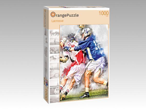 """Puzzle Motiv """"Lacrosse"""" - Puzzle-Schachtel zu 1000 Teile Puzzle"""