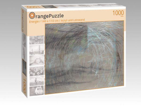"Puzzle Motiv ""Energie / 140 x 110 cm / Acryl und Leinwand"" - Puzzle-Schachtel zu 1000 Teile Puzzle"