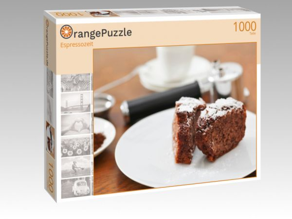 "Puzzle Motiv ""Espressozeit"" - Puzzle-Schachtel zu 1000 Teile Puzzle"
