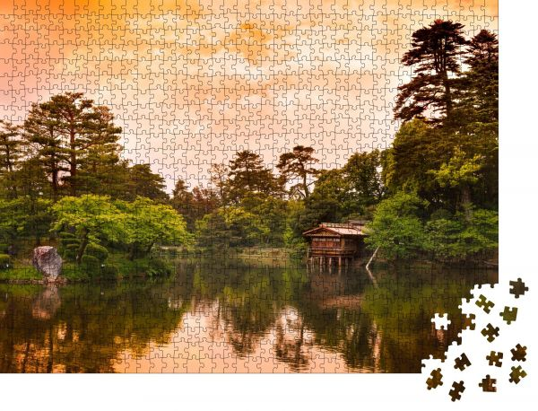 """Puzzle-Motiv """"Kenrokuen Garten in Kanazawa, Japan"""" - Puzzle-Schachtel zu 1000 Teile Puzzle"""