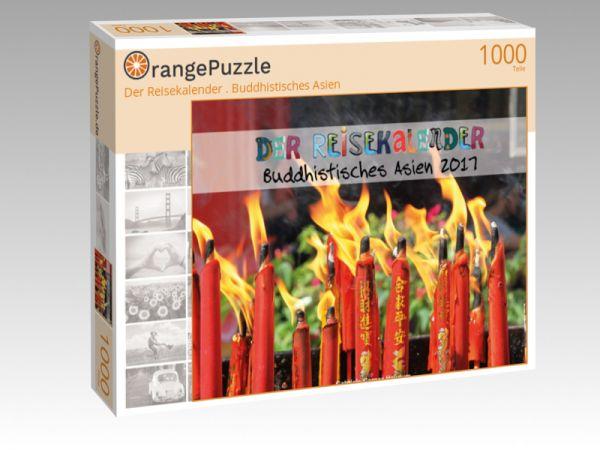 """Puzzle Motiv """"Der Reisekalender . Buddhistisches Asien"""" - Puzzle-Schachtel zu 1000 Teile Puzzle"""