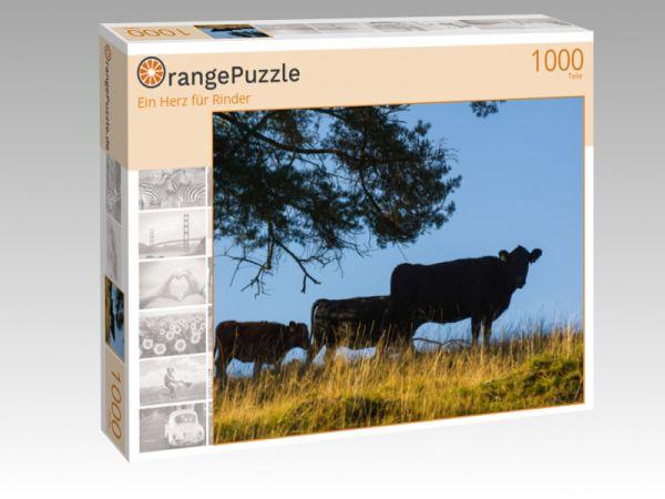 """Puzzle Motiv """"Ein Herz für Rinder"""" - Puzzle-Schachtel zu 1000 Teile Puzzle"""