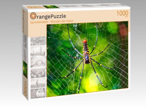 """Puzzle Motiv """"Spinnennetze - Wunder der Natur"""" - Puzzle-Schachtel zu 1000 Teile Puzzle"""