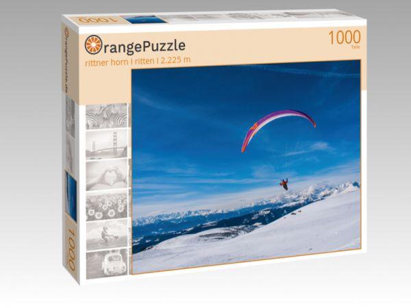"Puzzle Motiv ""rittner horn I ritten I 2.225 m"" - Puzzle-Schachtel zu 1000 Teile Puzzle"