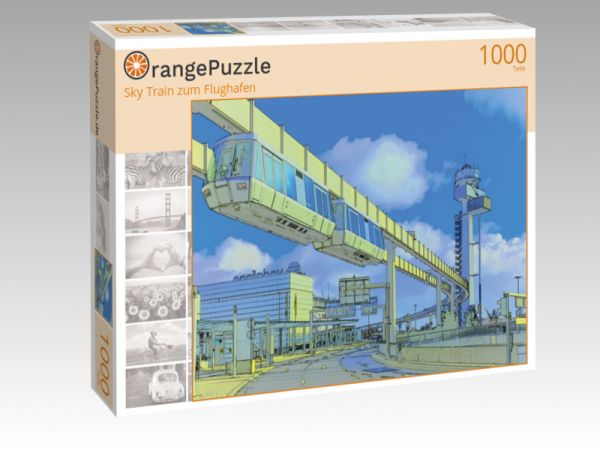 """Puzzle Motiv """"Sky Train zum Flughafen"""" - Puzzle-Schachtel zu 1000 Teile Puzzle"""