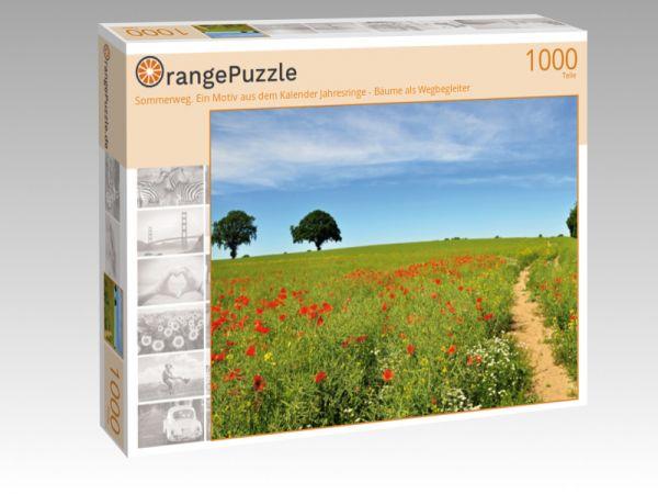 """Puzzle Motiv """"Sommerweg. Ein Motiv aus dem Kalender Jahresringe - Bäume als Wegbegleiter"""" - Puzzle-Schachtel zu 1000 Teile Puzzle"""