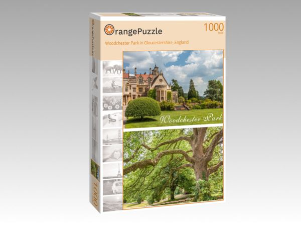 "Puzzle Motiv ""Woodchester Park in Gloucestershire, England"" - Puzzle-Schachtel zu 1000 Teile Puzzle"