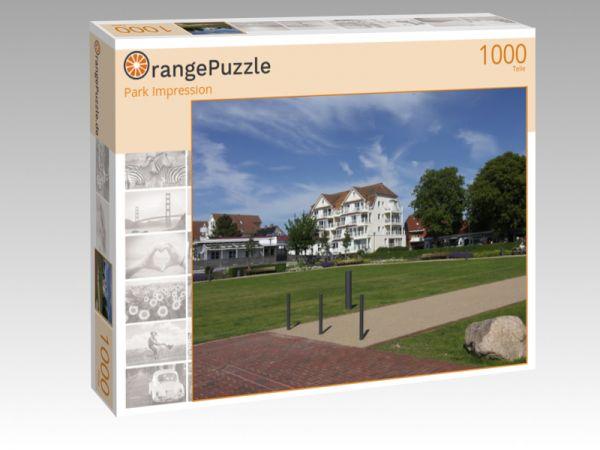 """Puzzle Motiv """"Park Impression"""" - Puzzle-Schachtel zu 1000 Teile Puzzle"""