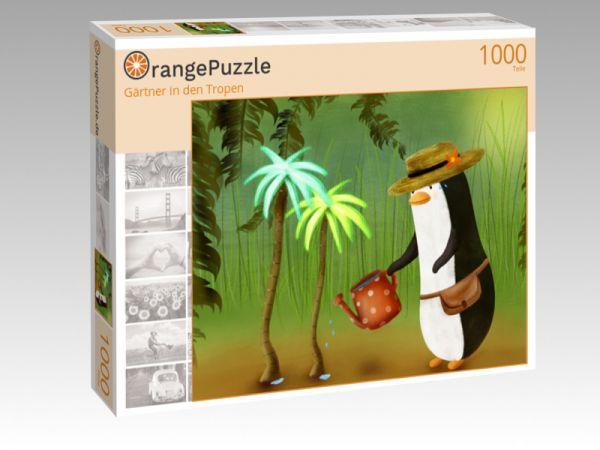 """Puzzle Motiv """"Gärtner in den Tropen"""" - Puzzle-Schachtel zu 1000 Teile Puzzle"""