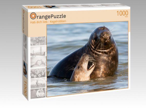 "Puzzle Motiv ""Hab dich lieb - Kegelrobben"" - Puzzle-Schachtel zu 1000 Teile Puzzle"