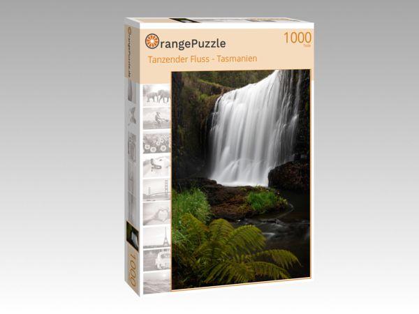 """Puzzle Motiv """"Tanzender Fluss - Tasmanien"""" - Puzzle-Schachtel zu 1000 Teile Puzzle"""