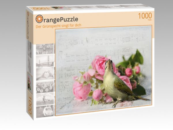 """Puzzle Motiv """"Der Grünspecht singt für dich"""" - Puzzle-Schachtel zu 1000 Teile Puzzle"""
