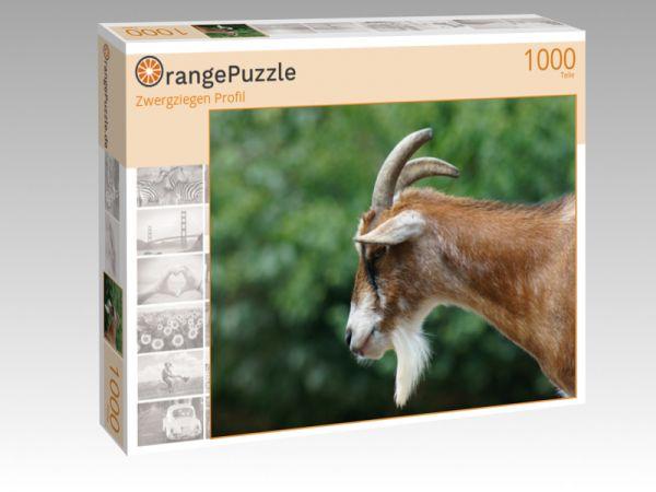 """Puzzle Motiv """"Zwergziegen Profil"""" - Puzzle-Schachtel zu 1000 Teile Puzzle"""