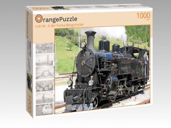 "Puzzle Motiv ""Lok Nr. 4 der Furka Bergstrecke"" - Puzzle-Schachtel zu 1000 Teile Puzzle"