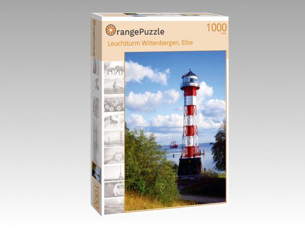 "Puzzle Motiv ""Leuchtturm Wittenbergen, Elbe"" - Puzzle-Schachtel zu 1000 Teile Puzzle"