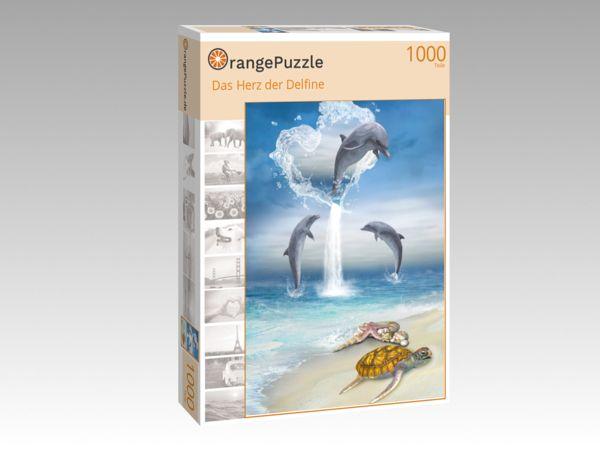 """Puzzle Motiv """"Das Herz der Delfine"""" - Puzzle-Schachtel zu 1000 Teile Puzzle"""