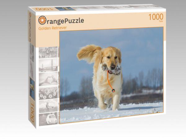 """Puzzle Motiv """"Golden Retriever"""" - Puzzle-Schachtel zu 1000 Teile Puzzle"""