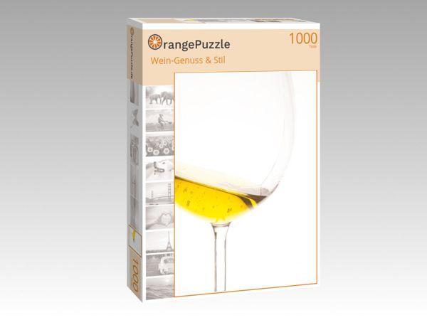 """Puzzle Motiv """"Wein-Genuss & Stil"""" - Puzzle-Schachtel zu 1000 Teile Puzzle"""