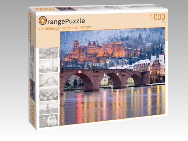 """Puzzle Motiv """"Heidelberger Schloss im Winter"""" - Puzzle-Schachtel zu 1000 Teile Puzzle"""