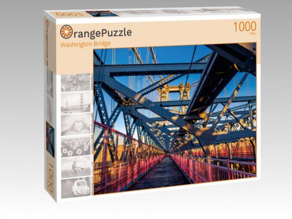 """Puzzle Motiv """"Washington Bridge"""" - Puzzle-Schachtel zu 1000 Teile Puzzle"""