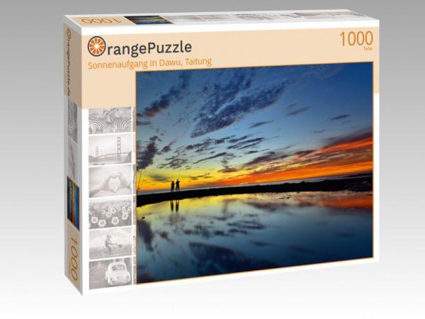 "Puzzle Motiv ""Sonnenaufgang in Dawu, Taitung"" - Puzzle-Schachtel zu 1000 Teile Puzzle"