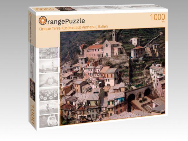 """Puzzle Motiv """"Cinque Terre Küstenstadt Vernazza, Italien"""" - Puzzle-Schachtel zu 1000 Teile Puzzle"""