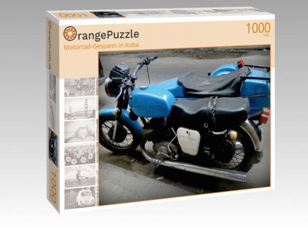 """Puzzle Motiv """"Motorrad-Gespann in Kuba"""" - Puzzle-Schachtel zu 1000 Teile Puzzle"""